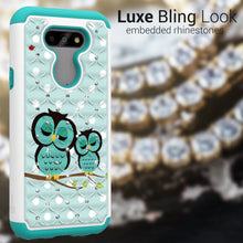 Load image into Gallery viewer, LG Phoenix 5 / Fortune 3 Case - Rhinestone Bling Hybrid Phone Cover - Aurora Series