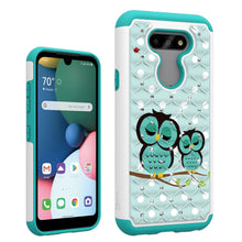 Load image into Gallery viewer, LG Aristo 5 / Aristo 5+ Plus Case - Rhinestone Bling Hybrid Phone Cover - Aurora Series