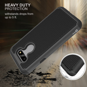 LG Phoenix 5 / Fortune 3 Case - Heavy Duty Protective Hybrid Phone Cover - HexaGuard Series