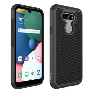 LG Tribute Monarch / Risio 4 / K8x Case - Heavy Duty Protective Hybrid Phone Cover - HexaGuard Series