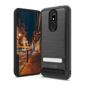 MicroMax T55 Case - Metal Kickstand Hybrid Phone Cover - SleekStand Series