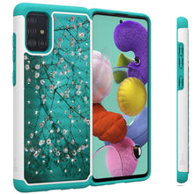 Load image into Gallery viewer, Samsung Galaxy A71 Case - Rhinestone Bling Hybrid Phone Cover - Aurora Series