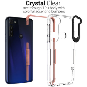 Motorola Moto G Stylus Clear Case - Protective TPU Rubber Phone Cover - Collider Series