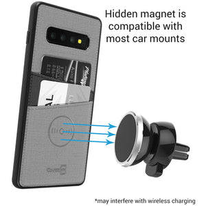 Samsung Galaxy S10 Plus Card Case - Credit Card Holder and Magnetic Car Mount Compatbile Phone Cover - EDC Series