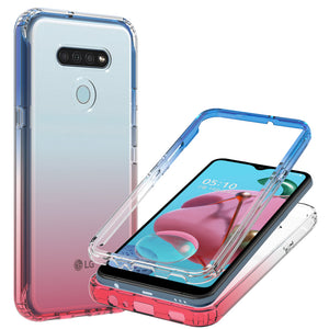 LG K51 / Reflect Clear Case Full Body Colorful Phone Cover - Gradient Series