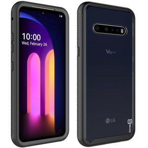 LG V60 ThinQ 5G Case - Heavy Duty Shockproof Clear Phone Cover - EOS Series