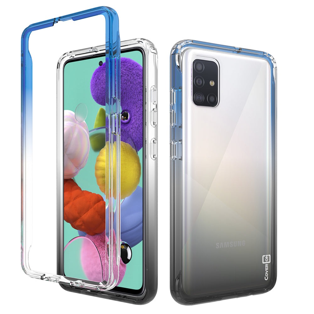 Samsung Galaxy A71 5G Clear Case Full Body Colorful Phone Cover - Gradient Series