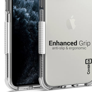 iPhone 11 Pro Clear Case - Protective TPU Rubber Phone Cover - Collider Series