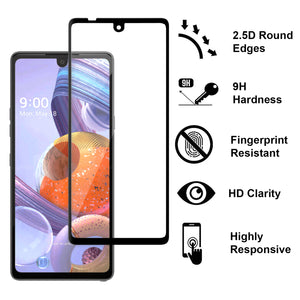 LG Stylo 6 Tempered Glass Screen Protector - InvisiGuard Series (1-3 Pack)