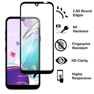 LG Tribute Monarch / Risio 4 / K8x Case - Clear Tinted Metal Ring Phone Cover - Dynamic Series