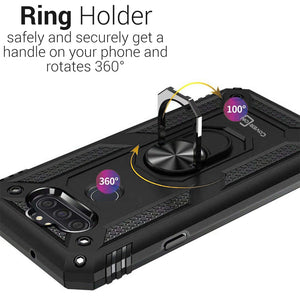 LG Tribute Monarch / Risio 4 / K8x Case with Metal Ring - Resistor Series