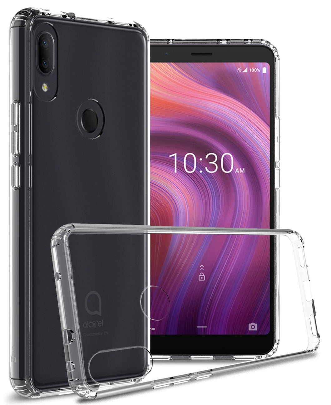 Alcatel 3V 2019 Clear Case - Slim Hard Phone Cover - ClearGuard Series