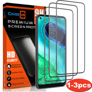 Motorola Moto G Fast Tempered Glass Screen Protector - InvisiGuard Series (1-3 Pack)