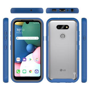 LG Phoenix 5 / Fortune 3 Case - Heavy Duty Shockproof Clear Phone Cover - EOS Series