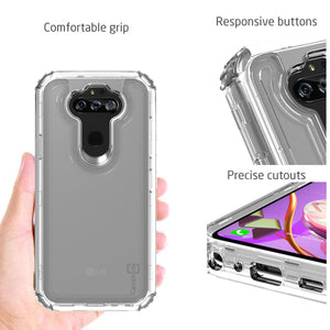 LG Phoenix 5 / Fortune 3 Clear Case - Full Body Tough Military Grade Shockproof Phone Cover