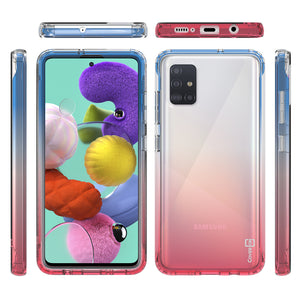 Samsung Galaxy A51 5G Clear Case Full Body Colorful Phone Cover - Gradient Series