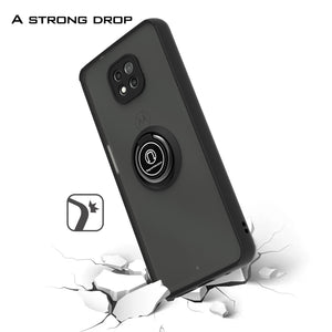 Motorola Moto G Power 2021 Case - Clear Tinted Metal Ring Phone Cover - Dynamic Series