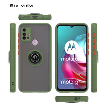Load image into Gallery viewer, Motorola Moto G30 / Moto G10 Case - Clear Tinted Metal Ring Phone Cover - Dynamic Series