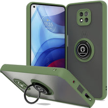 Load image into Gallery viewer, Motorola Moto G Power 2021 Case - Clear Tinted Metal Ring Phone Cover - Dynamic Series