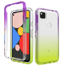 Load image into Gallery viewer, Google Pixel 4a Clear Case Full Body Colorful Phone Cover - Gradient Series