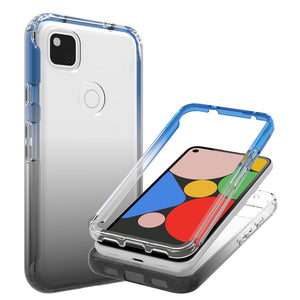 Google Pixel 4a Clear Case Full Body Colorful Phone Cover - Gradient Series