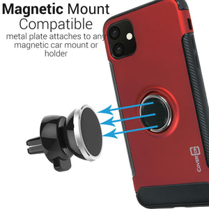iPhone 11 Ring Case - Magnetic Car Mount Compatible - Magna Series