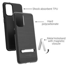 Load image into Gallery viewer, Samsung Galaxy S20 Plus Case - Metal Kickstand Hybrid Phone Cover - SleekStand Series