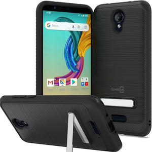 AT&T Fusion Z / Motivate Case - Metal Kickstand Hybrid Phone Cover - SleekStand Series