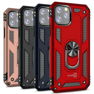 iPhone 11 Pro Max Case with Metal Ring Kickstand - Resistor Series