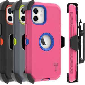 Apple iPhone 12 Mini Holster Case - Heavy Duty Shockproof Case with Belt Clip