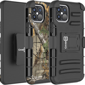 Apple iPhone 12 / iPhone 12 Pro Holster Case - Hybrid Case with Belt Clip - Explorer Series