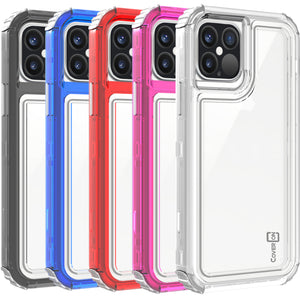 Apple iPhone 12 Pro / iPhone 12 Clear Case - Full Body Tough Military Grade Shockproof Phone Cover