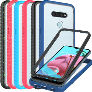 LG K51 Case - Heavy Duty Shockproof Clear Phone Cover - EOS Series