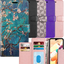 Load image into Gallery viewer, LG K51 / Reflect Wallet Case - RFID Blocking Leather Folio Phone Pouch - CarryALL Series
