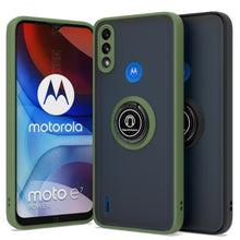Load image into Gallery viewer, Motorola Moto E7 Power Case - Clear Tinted Metal Ring Phone Cover - Dynamic Series