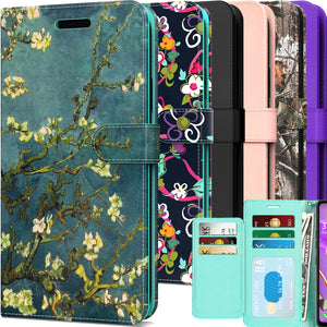 Nokia C2 Tava / C2 Tennen Wallet Case - RFID Blocking Leather Folio Phone Pouch - CarryALL Series