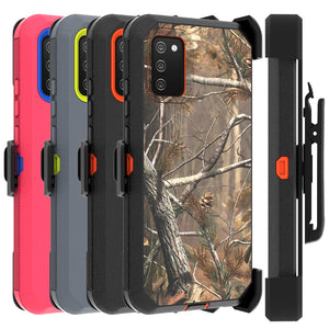 Samsung Galaxy A02s Holster Case - Heavy Duty Shockproof Case with Belt Clip