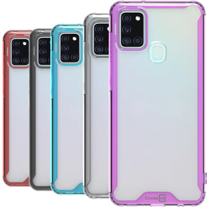 Samsung Galaxy A21s Clear Case Hard Slim Protective Phone Cover - Pure View Series