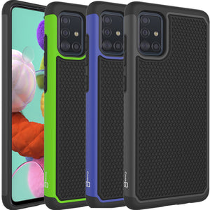 Samsung Galaxy A51 5G Case - Heavy Duty Protective Hybrid Phone Cover - HexaGuard Series
