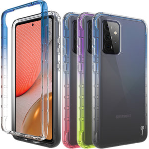 Samsung Galaxy A72 5G Clear Case Full Body Colorful Phone Cover - Gradient Series