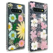Load image into Gallery viewer, Samsung Galaxy S10 Flower Case Handmade Slim Fit TPU Phone Cover - Real Flower TPU Series