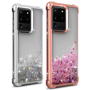 Samsung Galaxy S20 Ultra Case - Liquid Glitter TPU Phone Cover - Sparkle Series