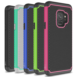 Samsung Galaxy S9 Case - Heavy Duty Protective Hybrid Phone Cover - HexaGuard Series