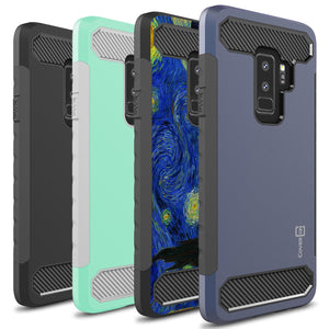 Samsung Galaxy S9 Plus Case - Hybrid Phone Cover with Carbon Fiber Accents - Arc Series