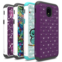 Load image into Gallery viewer, Samsung Galaxy J3 2018 / Express Prime 3 / J3 Star / J3 Prime 2 / Amp Prime 3 / Eclipse 2 / J3 Aura / J3 Orbit / Achieve Case - Rhinestone Bling Hybrid Phone Cover - Aurora Series