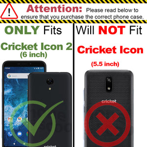 Cricket Icon 2 Wallet Case - RFID Blocking Leather Folio Phone Pouch - CarryALL Series