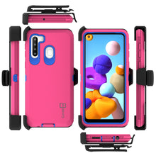 Load image into Gallery viewer, Samsung Galaxy A21 Holster Case - Heavy Duty Shockproof Case with Belt Clip