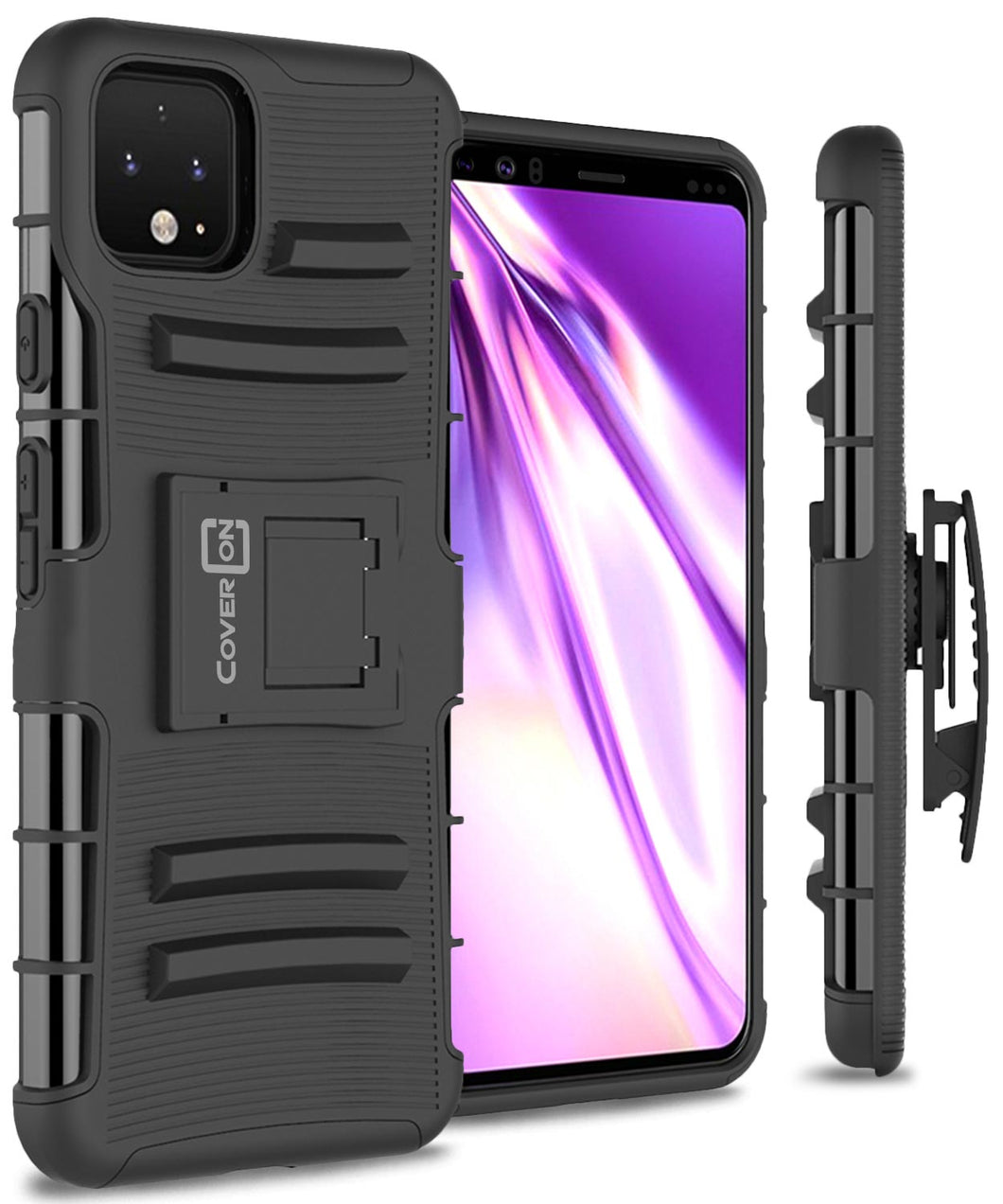 Google Pixel 4 Holster Case - Hybrid Case with Belt Clip - Explorer Series