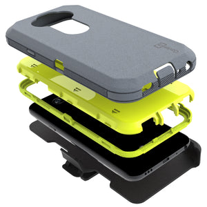 LG Tribute Monarch / Risio 4 / K8x Holster Case - Heavy Duty Shockproof Case with Belt Clip