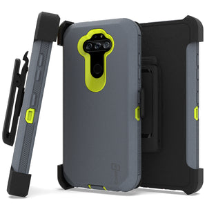 LG Aristo 5 / Aristo 5+ Plus Holster Case - Heavy Duty Shockproof Case with Belt Clip